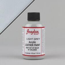 ANGELUS Acrilico Pelle Vernice Grigio Chiaro 4oz (118ml) bottiglia resistente all'acqua