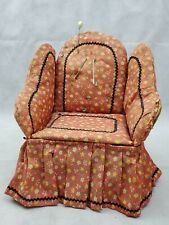 Vintage floral Pin cushion Chair With Storage pincushion pink (b)