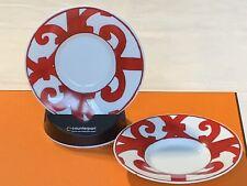 Hermes Paris Porcelaine , Balcon Du Guadalquivir 2 Espresso Cups Saucer Chipped