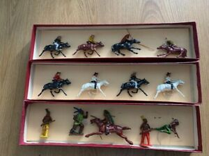 Vintage Britains Lead Cowboys and Indians x 13