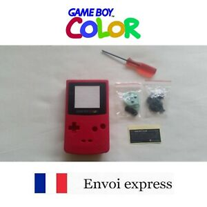 Coque GAME BOY color ROUGE red NEUF NEW + tournevis triwing - shell case
