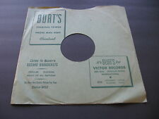78RPM Victor 10 inch custom paper sleeve for Burt's Records, Cleveland no record