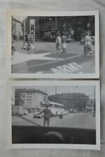 Unusual Vintage Photos MP Military Police Jeep Window View Streets of France 839