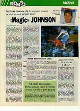 W33 Ritaglio Clipping 1988 Magic Cross USA Ricky Johnson Honda