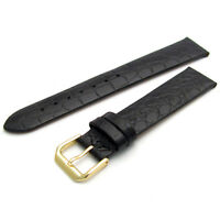 CONDOR Slim Padded Leather Watch Strap Band Croc Grain 18mm 20mm 244R