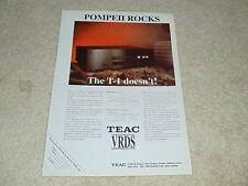 Teac VRDS T-1 CD Ad, 1995, 1 page, Article, Rare!