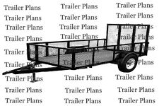 5 x 10 Single Axle Trailer Plans With 2' Sides And 4' Ramp Gate - Easy Build