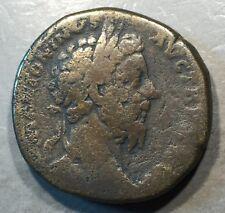 ANCIENT ROME  Marcus Aurelius As Caesar Sestertius    #A470