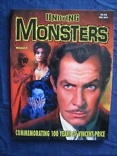 Undying Monsters # 2 ( Famous Monsters type ) 100 Years Of Vincent Price