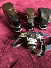 Nikon F Photomic 35mm Slr Film Camera with Lenses.
