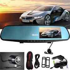 "4.3"" HD Car Rearview Mirror Monitor Dual Lens Dash Car DVR Cam Recorder Camera"