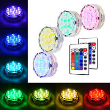 4pcs Waterproof LED RGB Submersible Light Wedding Party Vase Lamp Remote Control