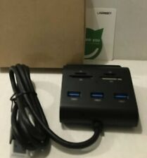 UGREEN 3-Port USB 3.0 Hub with Card Reader and Phone Stand