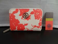 Authentic TORY BURCH Robinson Leather Zip Coin Case / Card Holder / Mini Wallet