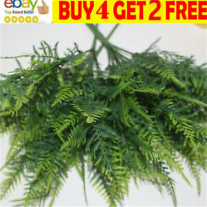 Artificial Plants Grass Asparagus Fern Leaf Vine Aquarium Greenery Home Decor