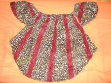 Bluse Shirt Hängerchen Gambia Gr. S M L XL (42 44 46 48) rot braun weiß schwarz