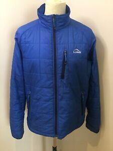 Mens L.L.Bean Jacket Size M Primaloft Blue Casual Active Jacket