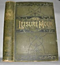 The Leisure Hour - 1883, HB, Illustrated Book, Collectable.
