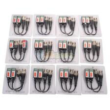 24pcs 12Pairs Coax CAT5 BNC Video Channel Passive Balun Transceiver for Camera