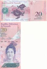 Venezuela Bolivarian Republic [56] - 20 Bolivares 19. 8. 2014 UNC - Pick 91g