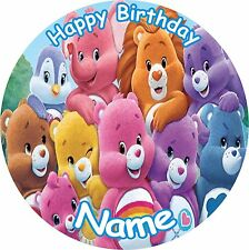 """CARE BEARS AND COUSINS 8"""" BIRTHDAY ICING CAKE TOPPER"""