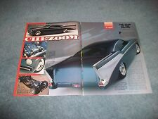 """Boyd Coddington Built 1957 Chevy Article and Fold Out Poster """"Chezoom"""""""