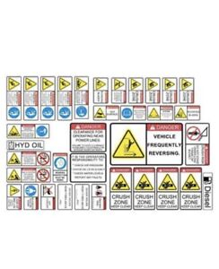 Wheel Loader Decal General Safety & Warnings Complete Decal Set