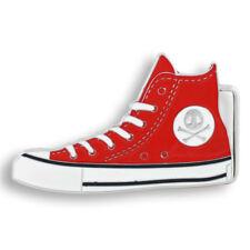Gürtelschnalle Wechselschnalle Metall Buckle Sneaker Rot Gürtel GS033