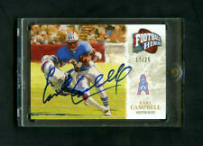2009 Earl Campbell Upper Deck UD Football Heroes On-Card Auto /25 Oilers