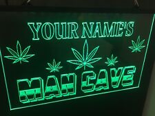Marijuana Personalized Man Cave Led Neon Light Sign Game Room ,Bar garage