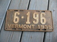 1935 35 VERMONT VT LICENSE PLATE NICE TAG RUSTIC OLDDIE BUY IT NOW.