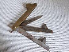 Outil ancien flamme de vétérinaire  acier et laiton XXème