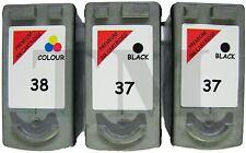 2 x PG-37 & 1 x CL38 Black & Colour 3 Pack Ink fits Canon Pixma iP2600 Printers