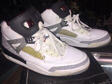 Nike Air Jordan SPIZ'IKE Size 13 315371-101 WHITE/CEMENT GREY-VRSTY w/Lace Locks