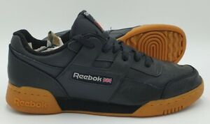 Reebok Workout Plus NT Leather Trainers CN2127 Black/Gum Sole UK7/US8/EU40.5