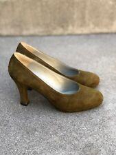 Allure Vintage 80s Women's Olive Heels Pumps Couture Shoes Size 7 M
