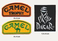 CAMEL DAKAR Aufnäher Aufbügler Patches 3 Stück Safari Rally Rallye Offroad 4x4