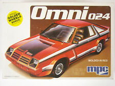 Vintage MPC Dodge Omni 024 1:25 Scale Plastic Model Car Kit #1-0789
