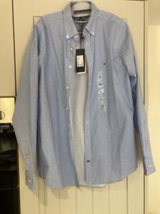 Tommy Hilfiger Medium Slim Fit Stretch Oxford Shirt BNWT