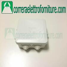 Cassetta scatola esterna di derivazione 80x80mm IP55 passacavi SCAME 689003