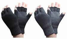 Heat Holders - Mens Thick Winter Warm 2.3 TOG Knitted Thermal Fingerless Gloves