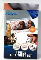 Jay Franco & Sons Disney Moana 4 Piece Full Sheet Set