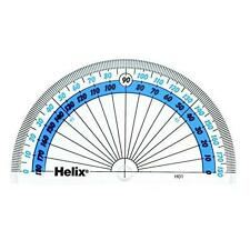 Helix 10cm 180 Degree Clear Protractor H01010