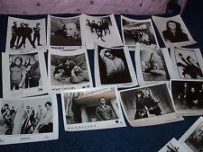 LOT OF 14 ALT ROCK PUBLICITY PRESS PHOTOS  Erasure, Moby, Sponge, U2, Morrissey