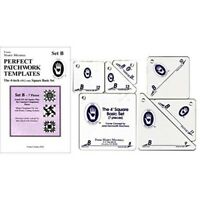 Marti Michell 4-inch Perfect Patchwork Template Basic Square Set B, Pack Of 7 -