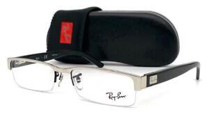 Ray Ban RX6182 2509  Silver Black / Demo Lens  53mm Eyeglasses