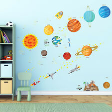 Decowall Space Planets Stars Removable Nursery Kids Wall Stickers Decal  DA 1501 Part 74
