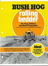 Original OEM OE Bush Hog Rolling Bedders Sales Brochure Form Number BH-23