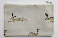 Sophie Allport Hare Fabric Handmade Lrg Zippy Coin Purse Storage Pouch