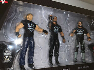 Official WWE Authentic The Shield Reunion Epic Moment 3-Pack Action Figure Set